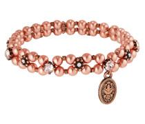 Armband Pearl 'n' Ribbons aus Metall mit Glassteinen & Kunstperlen