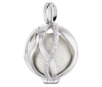 Kettenanhänger aus 925 Sterling Silber mit Zirkonia-18 mm