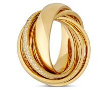 Ring Embrace aus vergoldetem Edelstahl mit Zirkonia-54