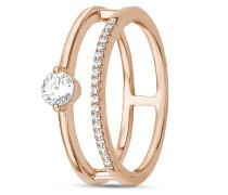 Ring aus rosévergoldetem 925 Sterling Silber mit Zirkonia