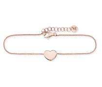 Armband Hearts <3 aus rosévergoldetem 925 Sterling Silber