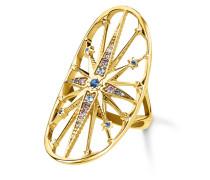 Ring Glam & Soul aus vergoldetem 925 Sterling Silber mit Zirkonia-54