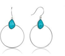 Damenring Turquoise Front Hoop 925er Silber