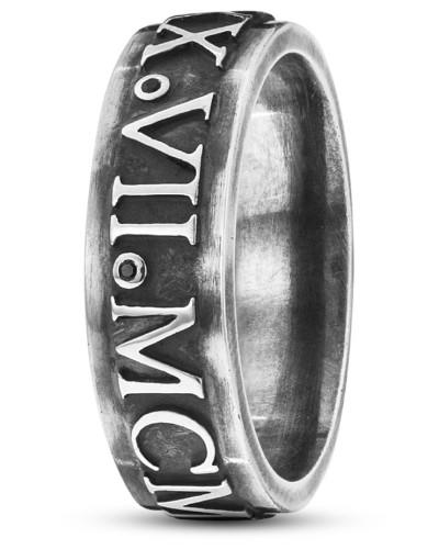 Ring Antique Century aus 925 Sterling Silber mit Spinellen-58