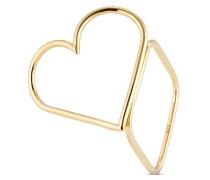 Ring aus vergoldetem 925 Sterling Silber-55