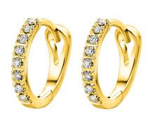 Creolen aus 375 Gold mit 0.1 Karat Diamanten