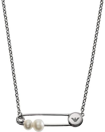 Halskette aus 925 Sterling Silber mit Süßwasser-Zuchtperlen