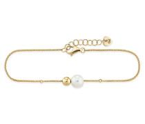 Armband Pearl Twist aus vergoldetem 925 Sterling Silber mit Süßwasser-Zuchtperle