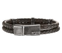 Armband Twinlane aus Leder & Edelstahl