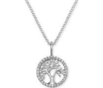 Halskette aus Sterling Silber mit Zirkonia