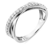 Ring aus 375 Weißgold mit 0.25 Karat Diamanten-54