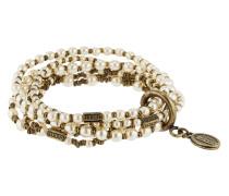 Armband Pearl 'n' Ribbons aus Metall mit Kunstperlen