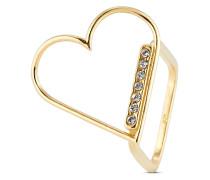 Ring aus vergoldetem 925 Sterling Silber mit Swarovski-Steinen-48