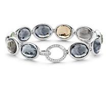 Armband aus 925 Sterling Silber mit Kristallen & Zirkonia