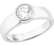 Damenring Silber 1 Zirkonia