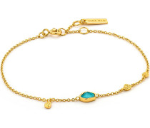 Armband Turquoise Discs 925er Silber