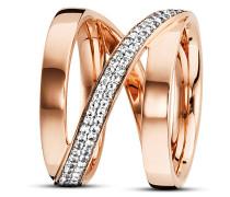 Ring Sensitive Dancer aus rosévergoldetem 925 Sterling Silber mit Topasen-56