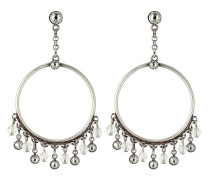 Ohrhänger aus Metall mit Glassteinen