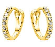 Creolen aus 375 Gold mit 0.10 Karat Diamanten