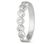 Ring aus 925 Sterling Silber mit Zirkonia