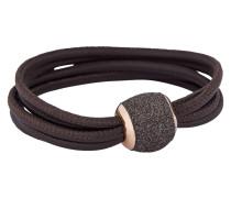 Armband Polvere di Sogni aus Leder & 925 Sterling Silber