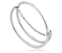 Damenring Modern Twist Chain Ring 925er Silber