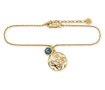 Armband Morocco Nights aus vergoldetem 925 Sterling Silber mit Blautopas
