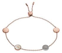 Armband aus Edelstahl & Perlmutt mit Kristallen