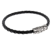 Armband 925 Sterling Silber-Leder
