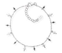 D-Armband 925er Silber 10 Glasstein