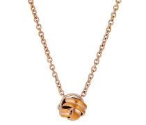 Halskette Embrace aus rosévergoldetem Edelstahl