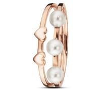 Ring Pearl Love aus rosévergoldetem 925 Sterling Silber mit Süßwasser-Zuchtperlen -52
