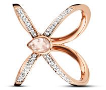 Ring Sensitive Dancer aus rosévergoldetem 925 Sterling Silber mit Rosenquarz & Topasen-50