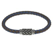 Armband aus Leder & 925 Sterling Silber-210 mm