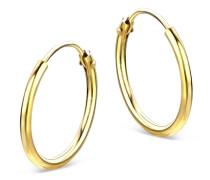 Creolen aus 333 Gold | Durchmesser 15 mm | Stärke 1,3 mm