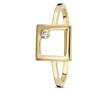 Ring Fine Line aus vergoldetem 925 Sterling Silber mit Zirkonia-50
