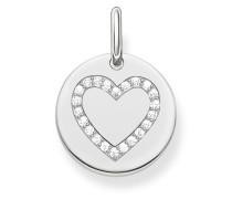 Kettenanhänger Love Bridge aus 925 Sterling Silber mit Zirkonia