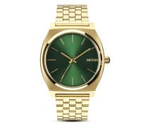 Quarzuhr Time Teller A045 1919-00 Gold / Green Sunray