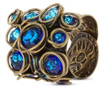 Ring Sparkle Twist aus Metall mit Glassteinen