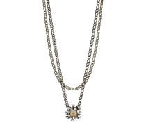Halskette Caviar de Luxe aus Metall mit Glassteinen