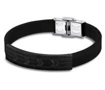 Armband Men in Black aus Kautschuk & Edelstahl