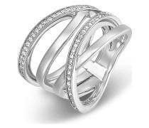 Ring aus Sterling Silber mit 54 Zirkonia