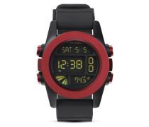 Digitaluhr Unit A197 1307-00 Dark Red / Black Ano