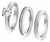 Ring aus Silber mit 41 Zirkonia