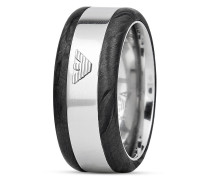 Ring aus Edelstahl & Karbon