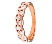 Ring aus rosévergoldetem 925 Sterling Silber mit Zirkonia-56