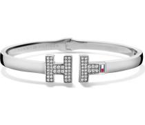 Armband aus Edelstahl mit Glassteinen