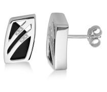 Ohrstecker aus 925 Sterling Silber mit Onyxen