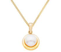Halskette aus Gold mit Süßwasserperle