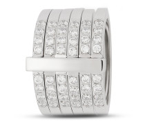 Ring Lustrino aus Edelstahl mit Kristallen-53